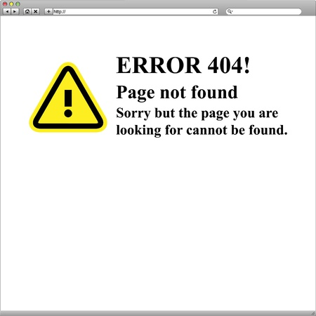 404 error page not found browser Stock Vector - 19716592