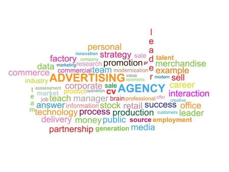 sales executive: Agencia de Publicidad nube de la palabra Vectores