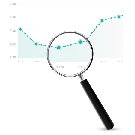 magnification: Market Research Illustration