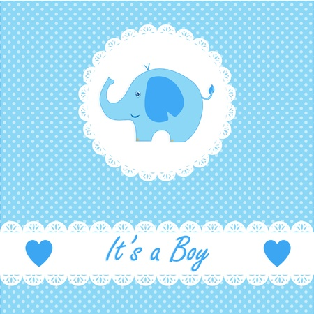It s a boy baby with little baby elephant Vector