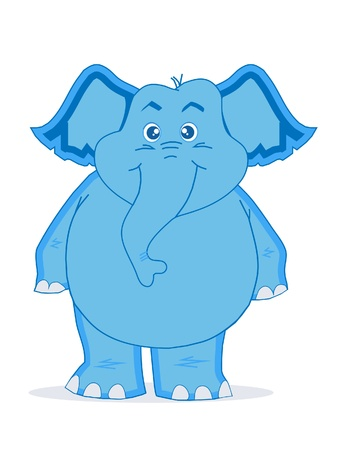 shrank: Cute Blue Elephant Illustration