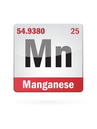 primordial: Manganese Symbol Illustration Icon On White Background Illustration