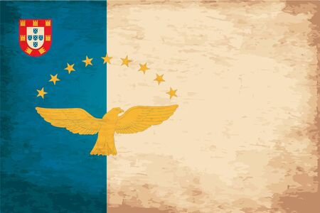azores: Grunge Flag of Azores Illustration