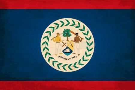 grimy: Grunge Flag of Belize