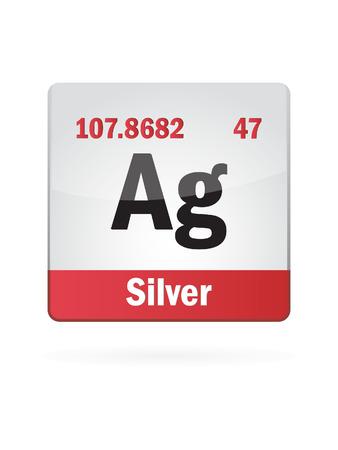 Silver Symbol Illustration Icon On White  Stock Vector - 23075218