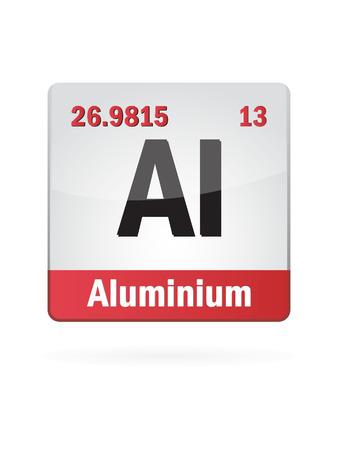 solubility: Aluminium Symbol Illustration Icon On White  Illustration