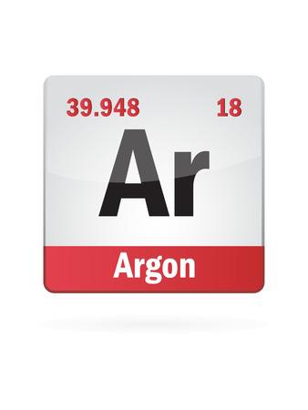 protons: Argon Symbol Illustration Icon On White  Illustration