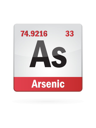 arsenic: Arsenic Symbol Illustration Icon On White