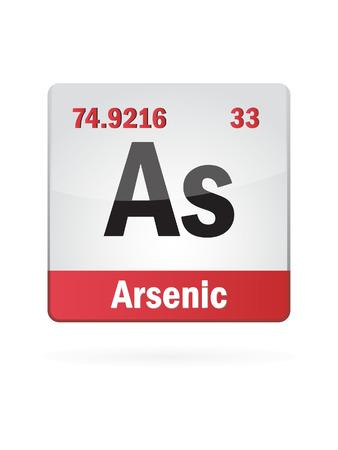 neutrons: Arsenic Symbol Illustration Icon On White
