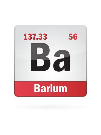 isotope: Barium Symbol Illustration Icon On White