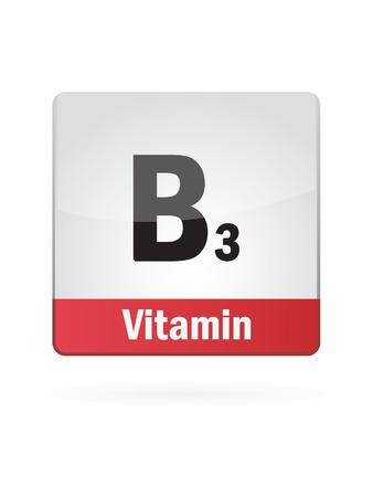 Vitamin B3 Symbol Illustration  Illusztráció