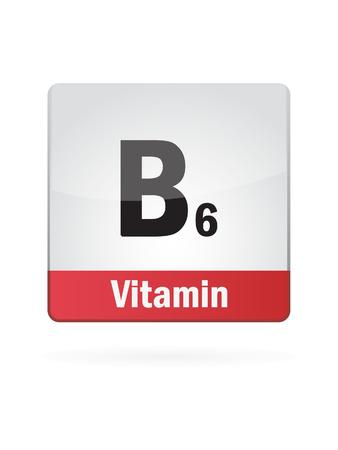 Vitamin B6 Symbol Illustration
