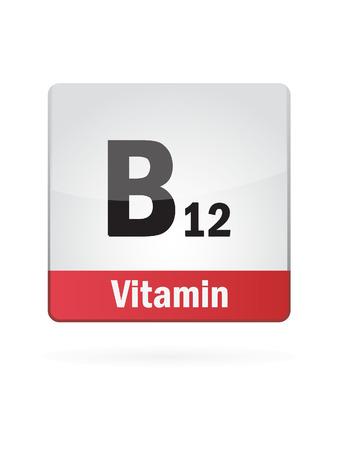 Vitamin B12 Symbol Illustration Icon