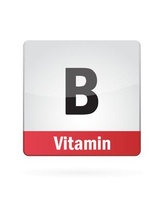 Vitamin B Symbol Illustration