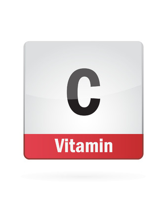 vitamin c: Vitamin C Symbol Illustration