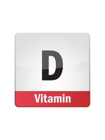 a d: Vitamin D Symbol Illustration