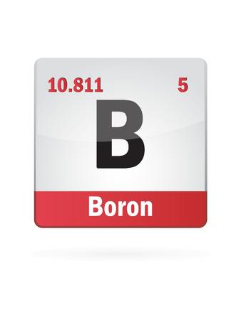 boron: Boron Symbol Illustration Icon  Illustration