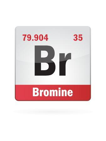isotope: Bromine Symbol Illustration Icon