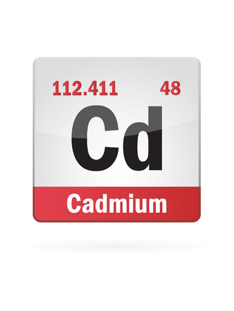 neutrons: Cadmium Symbol Illustration Icon
