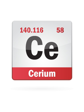 isotope: Cerium Symbol Illustration Icon Illustration