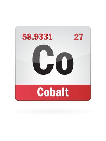 isotope: Cobalt Symbol Illustration Icon