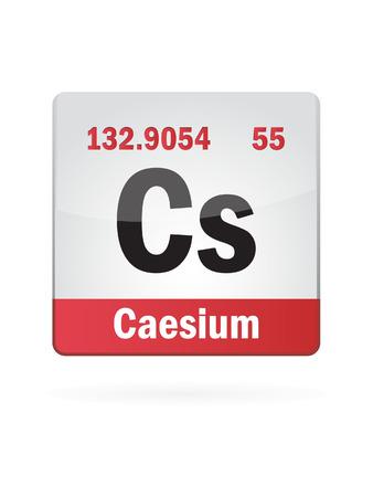 cs: Caesium Symbol Illustration Icon