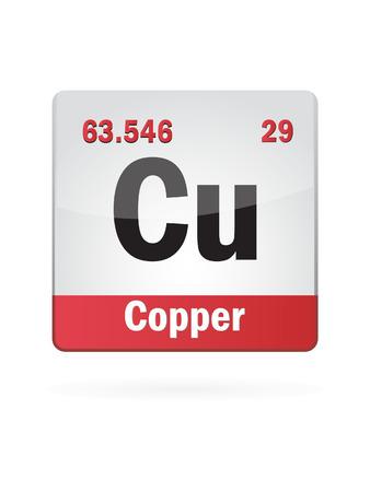 protons: Copper Symbol Illustration Icon