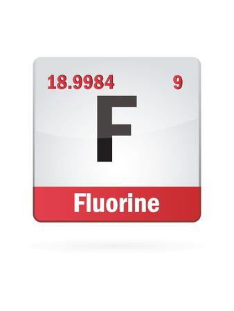 fluorine: Fluorine Symbol Illustration Icon