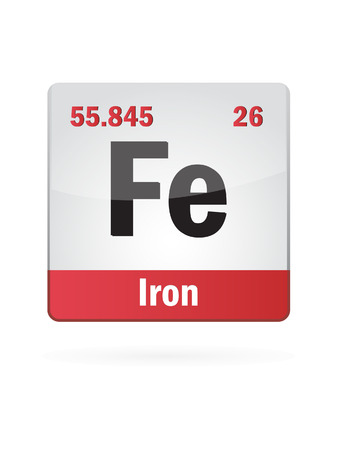 isotopes: Iron Symbol Illustration Icon