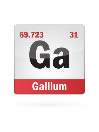 Gallium Symbol Illustration Icon Vector