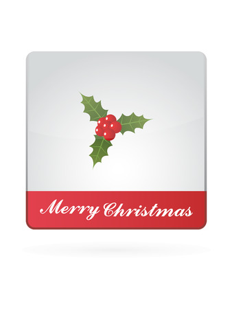 aquifolium: Christmas Berry Symbol Illustration Icon On White Background Illustration