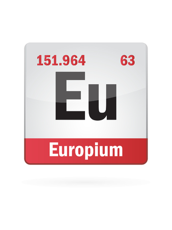 Europium Symbol Illustration Icon On White Background Stock Vector - 27517588
