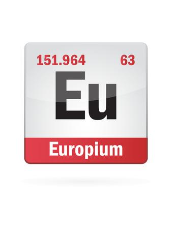 iupac: Europium Symbol Illustration Icon On White Background Illustration