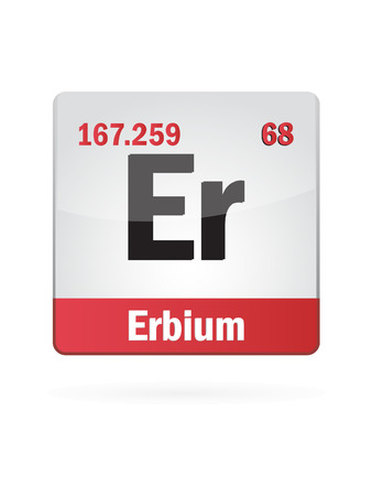 neutrons: Erbium Symbol Illustration Icon On White Background
