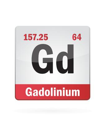 isotope: Gadolinium Symbol Illustration Icon On White Background