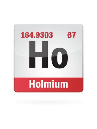isotope: Holmium Symbol Illustration Icon On White Background