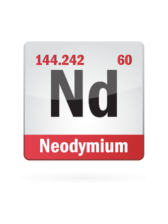 Neodymium Symbol Illustration Icon On White Background Stock Vector - 27517598