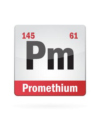 Promethium Symbol Illustration Icon On White Background