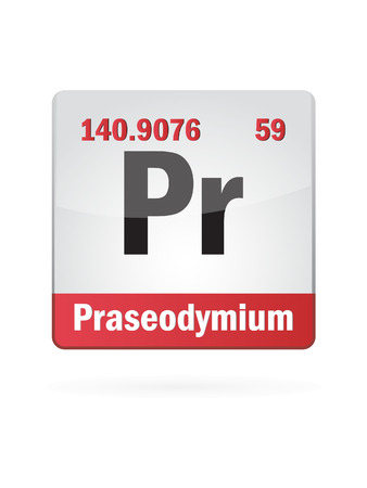 Praseodymium Symbol Illustration Icon On White Background Vector