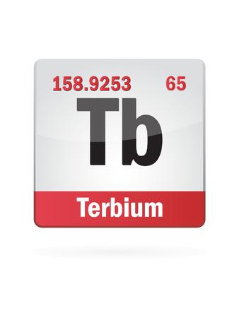 neutrons: Terbium Symbol Illustration Icon On White Background