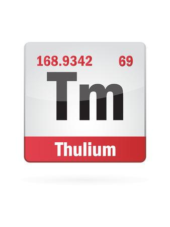 protons: Thulium Symbol Illustration Icon On White Background