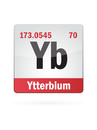neutrons: Ytterbium Symbol Illustration Icon On White Background