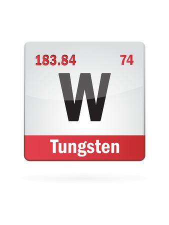 Tungsten Symbol Illustration Icon On White Background