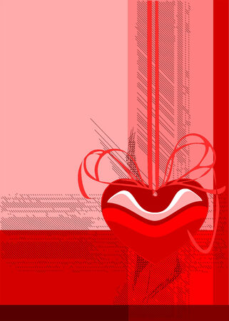 Greeting card for Valentines Day (vector)