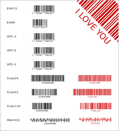 Different barcodes (vector) Illustration