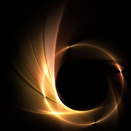 fractal: background with ring of fire Stock Photo