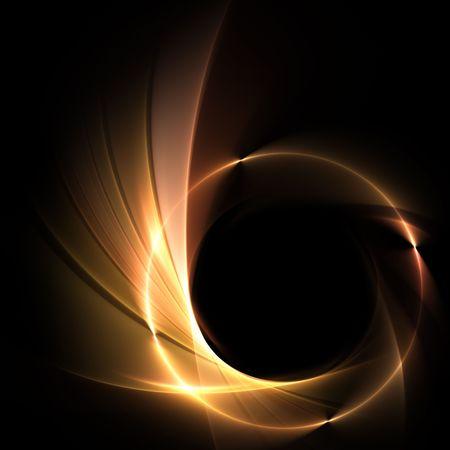 dorato: sfondo con anello di fuoco