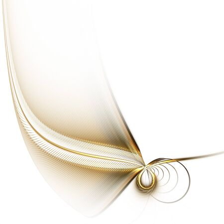 white background with stylized feather Stock Photo
