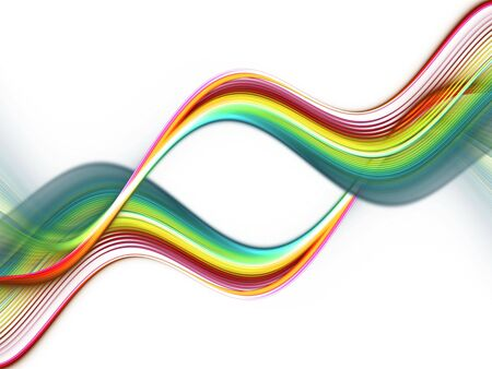 Colored Waves on white Background
