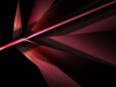 dark red geometrical leaf